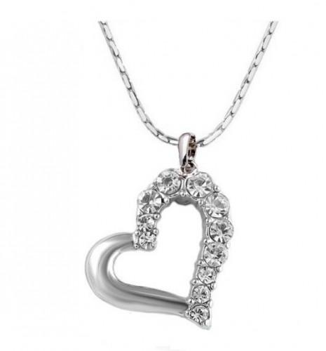 Colier inima cristale placat aur 18k