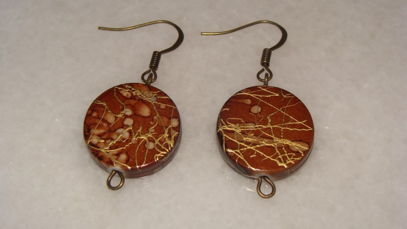 Cercei maro din bronz