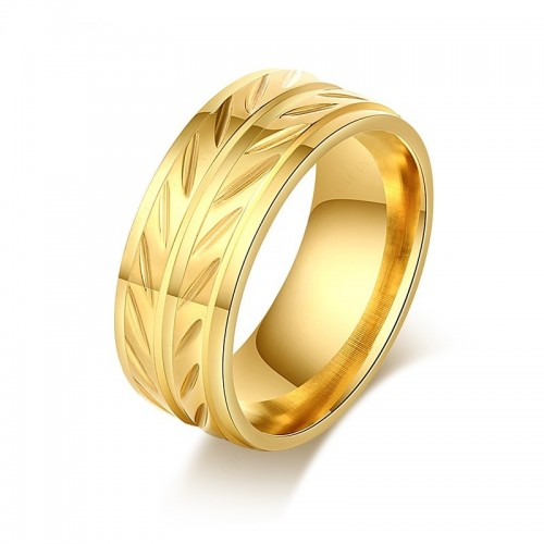 Verighete din inox placate cu aur 18k