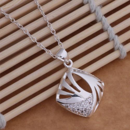 Colier cu cristale placat argint