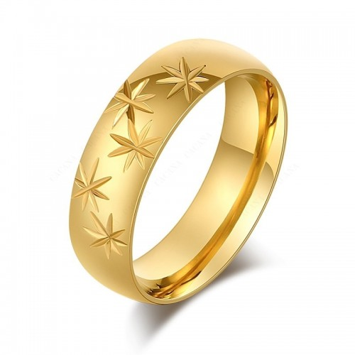 Verighete inox placate cu aur 18k