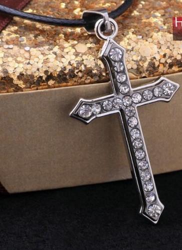 Colier + cruciulita inox cu cristale